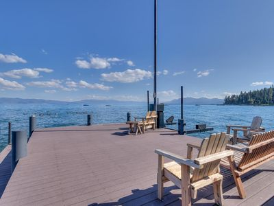 Photo for Olympic Lakefront Paradise with Private Pier, Buoy, & Hot Tub - Remodeled!