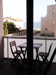 Photo for Nice Studio facing the sea + closed parking + terrace