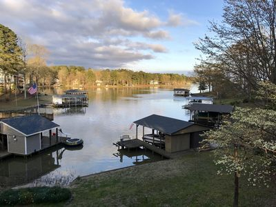 Photo for Relaxing Lake Gaston Getaway (two separate living spaces; sleeps 9)