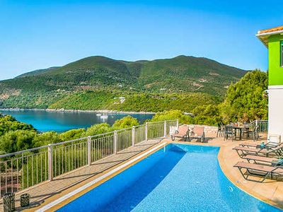 Photo for Brand new 3 bedroom villa with fantastic sea views, larger than average swimming pool, bright, modern and comfortable interiors. Short drive to Sivota port and village.
