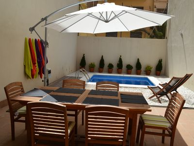 Photo for APARTMENT IN BARCELONA WITH GARDEN AND PRIVATE POOL