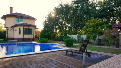 Photo for Beautiful Self-catering villa - private pool - 3 km from the famous Bolata Beach