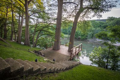 Deck Space provides easy access to the river
