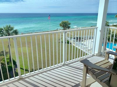 Photo for The Beach Retreat-Great 2BR Beachfront Condo-Pool-Tennis Courts-Ocean Front