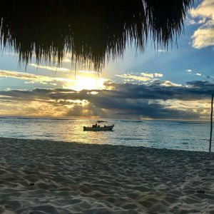 dawn from under palapa