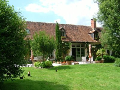 Photo for Large charming cottage, on the road of the castles of the Loire and the Zoo de Beauva