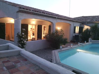 Photo for Lovely villa, beach 15 mins. 6 guests. 3 bedrooms. 2 bathrooms. Own pool. Wi-fi