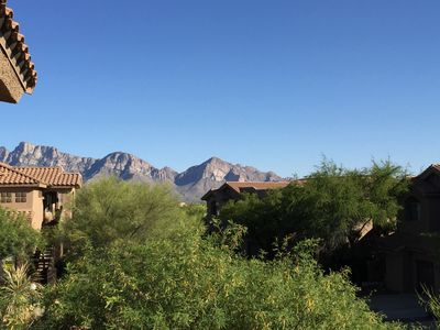 View of the Catalina Mountains from the front door.