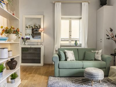 Photo for Elegant apartment on the 1st floor of an old monastery in the historic center