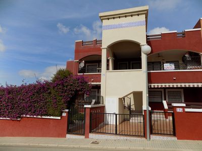 Photo for Two bedroom first floor apartment, wifi , Airon, solarium and communal pool