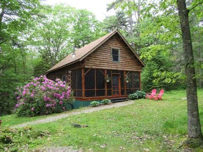 "Photo for New rental in Boothbay Harbor, try our ""Authentic ""Log Cabin in Maine"