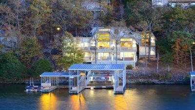 Photo for Waterfront home with oversized dock, stay at Grammy & Papa's Lakeside Dugout!