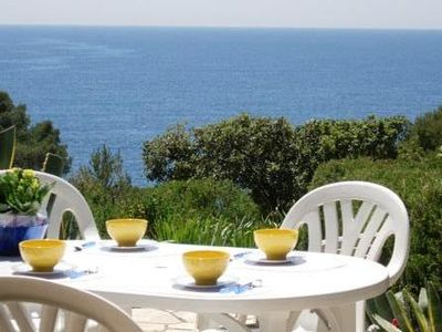 Photo for 5 sleeps, by the sea, open view on the sea, south-facing, garden, pool, tennis