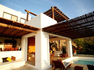 Photo for Beautiful Beachfront Villa with Private Pool and service from Hotel Camino Real