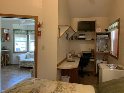 Kitchenette located in the private bedroom