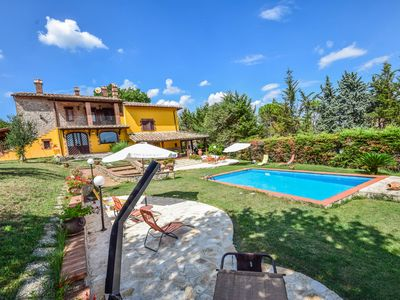Photo for House with private pool. Quiet area and panoramic views. 5km from village