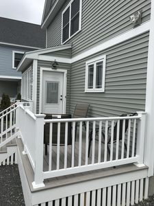 Enjoy your morning coffee on the front deck