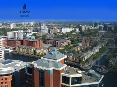 Photo for Salford Quays, Manchester - Studio Apartment (Double Bed and Kingsize Sofa Bed)