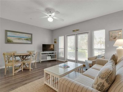 Photo for Ground floor, perfect small family rental, walk to the beach from your patio!