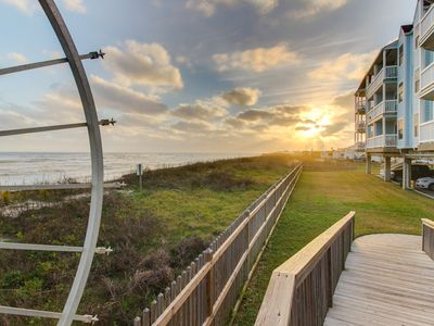 Photo for Oceanfront condo with a shared pool/hot tub and a private balcony, water views!