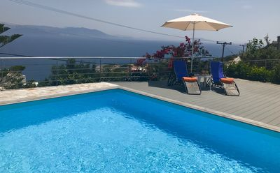 Photo for VILLA CALYPSO-Private Pool-Ideal for holidays-Sea View-just 45 min. from Athens