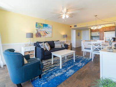 Photo for Beach Condo/ Onsite Restaurant/ WIFI/ Sleeps 8