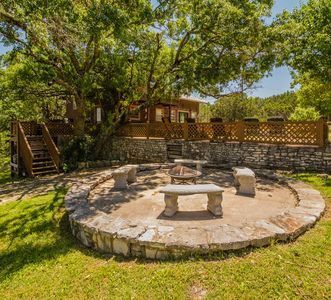 Fire pit is available for use when there is not a burn ban in effect.