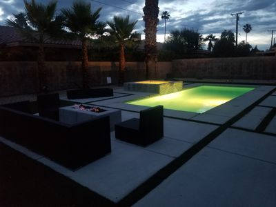 Photo for Luxurious, heated pool, jacuzzi and firepit
