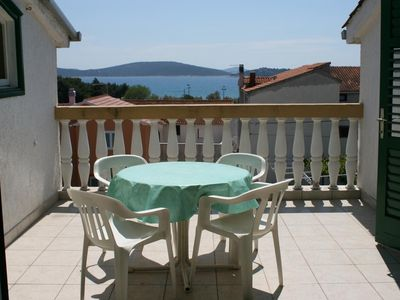 Photo for One bedroom apartment with terrace and sea view Vodice