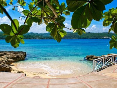 Photo for SEA GRAPES ON THE BEACH JAMAICA - Luxury 6 Bed Beach Villa in Discovery Bay - STAFF INCLUDED