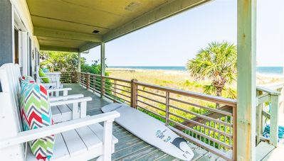 Photo for Dog Friendly, Oceanfront House with Large Deck and Private Beach Access!