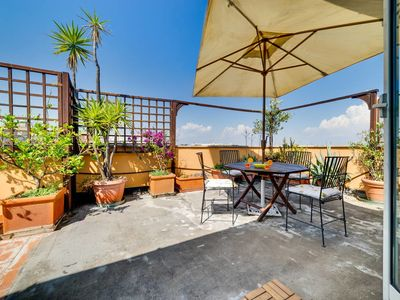 Photo for Sunny Flat with a Large Terrace close to Vatican