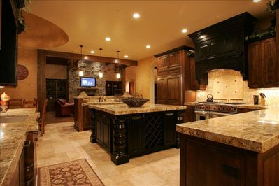 The Gourmet Kitchen is a Chef's Dream and great for Socializing