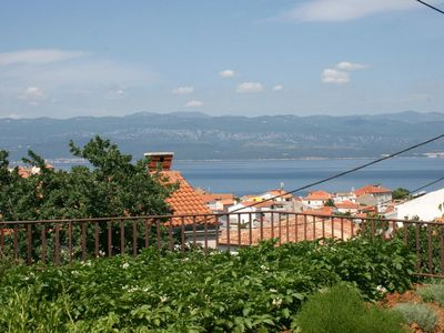 Photo for Two bedroom apartment with terrace and sea view Vrbnik, Krk (A-5392-a)