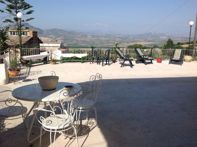 Photo for panoramic villa in the hills, in the open, sea view and relaxation