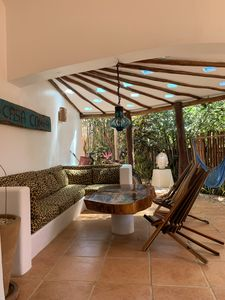 Private covered palapa