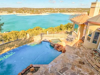 Photo for Luxe 4BR Lake Home w/ Theater, Infinity Pool, Hot Tub & Outdoor Kitchen