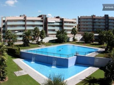 Photo for APART. CLIMATIZADO-FREE WIFI-ZONE SPA-GYM-3HAB / 2BAÑOS-GRAN TERRAZA-IDEAL PLAYA-PORT AVENTU