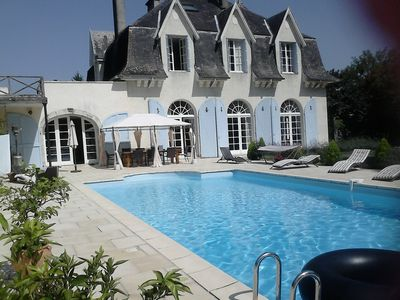 Photo for Well appointed Country Chateau with large pool and private river access.