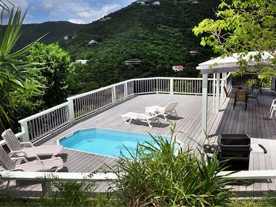 Photo for Fish Tales a Caribbean Cottage style home with a Pool, walk to Reef Bay Beach