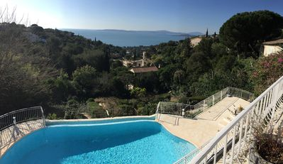 Photo for Beautiful villa overlooking the bay of St Tropez - 4 bedrooms and 1 studio