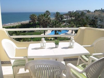 Photo for Top Floor Apartment With Sea Views, 40m From Beach & Shared Pools. VFT/MA/02503
