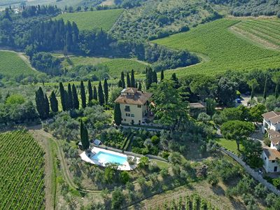 Photo for Apartment in Villa with swimmingpool & Winery in the Chianti