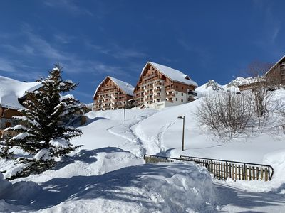 Photo for Apartment 6 pers. comfortable with a panoramic view of the ski area