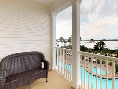 Photo for NEW LISTING! Bayview condo with shared pool, hot tub, and private balcony!
