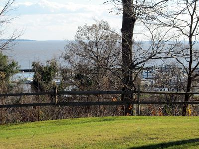 View the lovely James River from the living area and two of the three bedrooms.