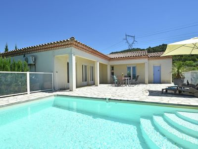 Photo for Luxurious villa with private swimming pool, air-conditioning and vast views
