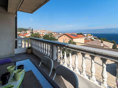 Photo for Holiday apartment overlooking the sea and the historic center