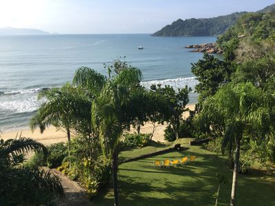 Photo for Foot in the sand exclusive beach with stunning views next to Praia Vermelha do Sul