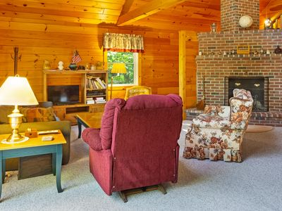 Photo for Retreat w/ dock & stunning lake views, only 45 minutes from Bar Harbor